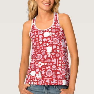 Snow White and Friends Pattern Tank Top