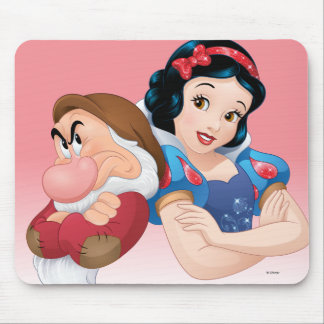 Snow White And Grumpy Mouse Pad