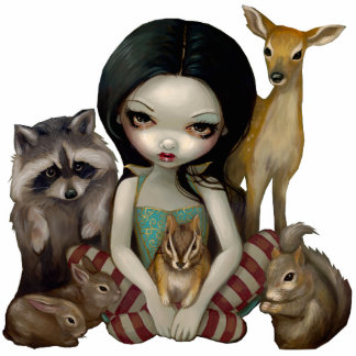 Snow White And Her Animal Friends Photo Sculpture