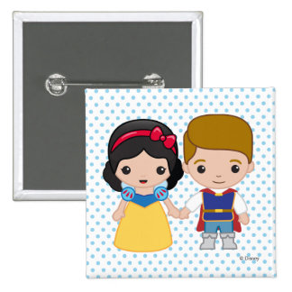 Snow White and Prince Charming Emoji 2 Inch Square Button