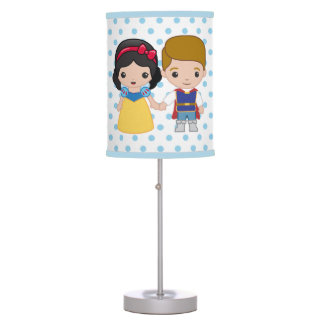 Snow White and Prince Charming Emoji Desk Lamps