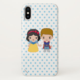 Snow White and Prince Charming Emoji iPhone X Case