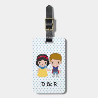 Snow White and Prince Charming Emoji Luggage Tag