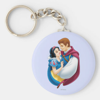 Snow White and Prince Charming Hugging Keychain