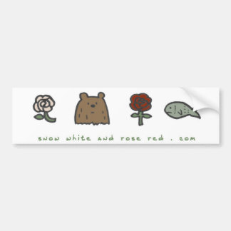 """Snow White and Rose Red """"code"""" bumper sticker"""