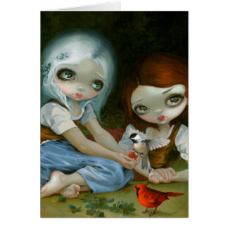 """Snow White and Rose Red"" Greeting Card"
