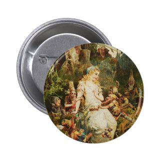 Snow White and Seven Dwarves 2 Inch Round Button