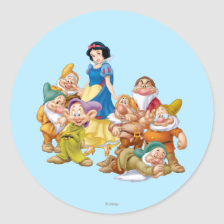 Snow White and the Seven Dwarfs 2 Classic Round Sticker