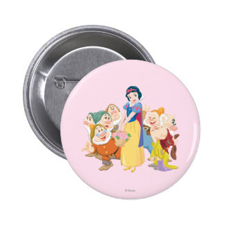 Snow White and the Seven Dwarfs 3 2 Inch Round Button