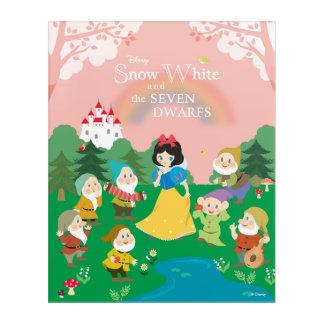 Snow White and the Seven Dwarfs Cartoon Acrylic Wall Art