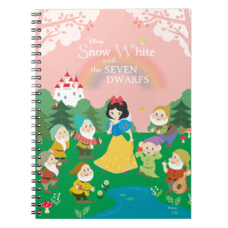 Snow White and the Seven Dwarfs Cartoon Notebook