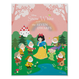 Snow White and the Seven Dwarfs Cartoon Poster