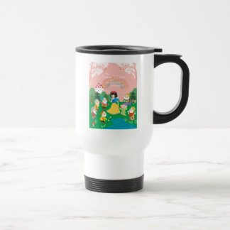 Snow White and the Seven Dwarfs Cartoon Travel Mug
