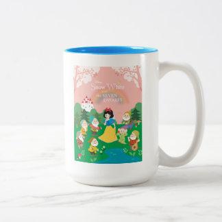 Snow White and the Seven Dwarfs Cartoon Two-Tone Coffee Mug