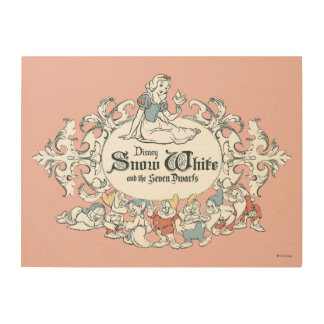 Snow White and the Seven Dwarfs   Fairest of All Wood Wall Art