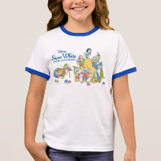 Snow White and the Seven Dwarfs taking a Break Ringer T-Shirt