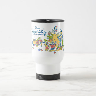Snow White and the Seven Dwarfs taking a Break Travel Mug