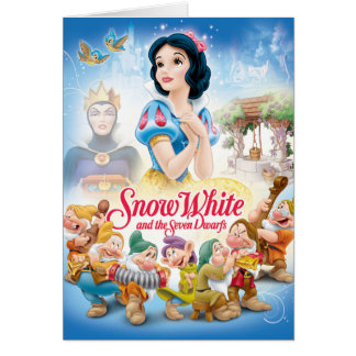Snow White and the Seven Dwarfs with Evil Queen Card