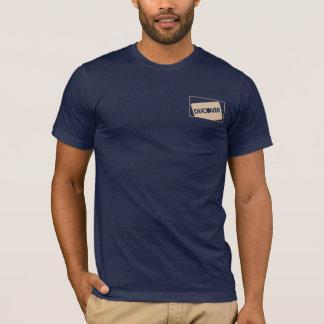 Snow White Cool Pattern on Dark Blue T-Shirt
