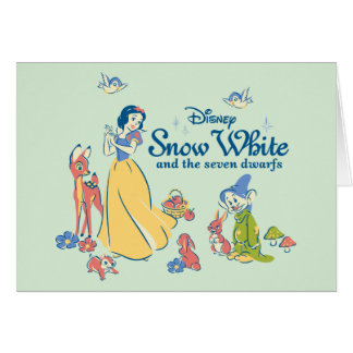 Snow White & Dopey with Friends Card