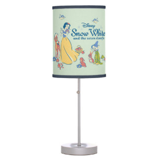 Snow White & Dopey with Friends Desk Lamps