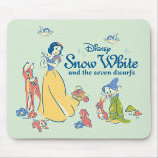 Snow White & Dopey with Friends Mouse Pad