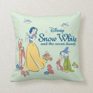 Snow White & Dopey with Friends Throw Pillow
