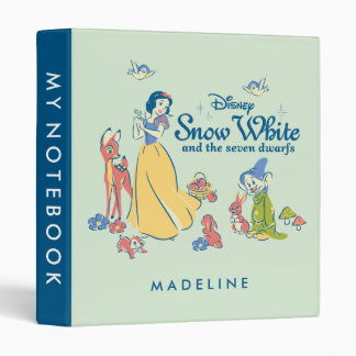 Snow White & Dopey with Friends Vinyl Binder