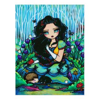 Snow White Dwarves Fantasy Fairy Art Postcard