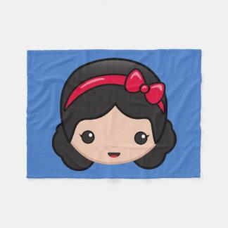 Snow White Emoji Fleece Blanket