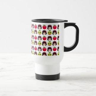 Snow White Emoji Land Pattern Travel Mug