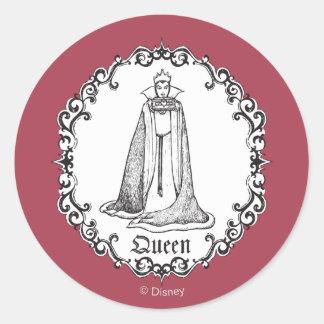Snow White   Evil Queen - Vintage Villain Classic Round Sticker