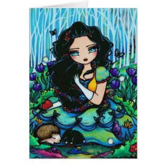 Snow White Forest Fairy Fantasy Girl Art Card