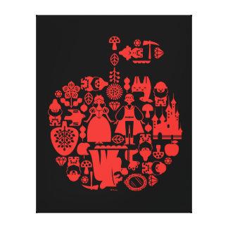 Snow White & Friends Apple 2 Canvas Print