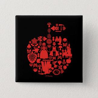 Snow White & Friends Apple 2 Inch Square Button