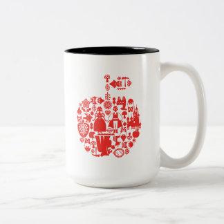 Snow White & Friends Apple Two-Tone Coffee Mug