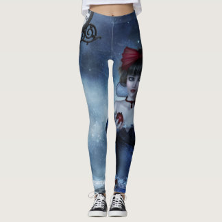 Snow White Grunge Leggings