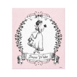 Snow White | Holding Apple - Elegant Sketch Canvas Print
