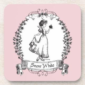 Snow White | Holding Apple - Elegant Sketch Coaster