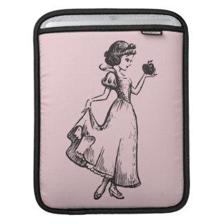 Snow White | Holding Apple - Elegant Sketch iPad Sleeve
