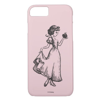 Snow White | Holding Apple - Elegant Sketch iPhone 8/7 Case
