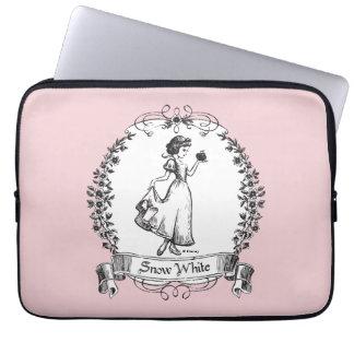 Snow White | Holding Apple - Elegant Sketch Laptop Sleeve
