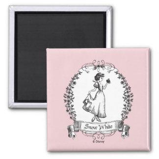 Snow White | Holding Apple - Elegant Sketch Magnet
