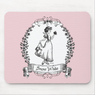 Snow White | Holding Apple - Elegant Sketch Mouse Pad