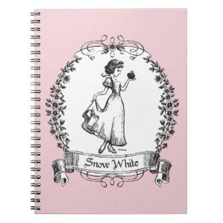 Snow White | Holding Apple - Elegant Sketch Notebook