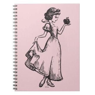 Snow White | Holding Apple - Elegant Sketch Spiral Notebook