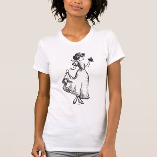 Snow White | Holding Apple - Elegant Sketch T-Shirt