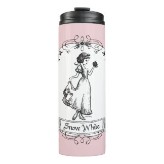 Snow White | Holding Apple - Elegant Sketch Thermal Tumbler