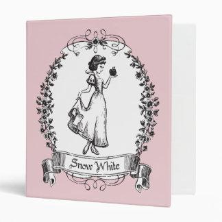 Snow White | Holding Apple - Elegant Sketch Vinyl Binders