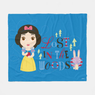 Snow White | Lost in the Woods Fleece Blanket